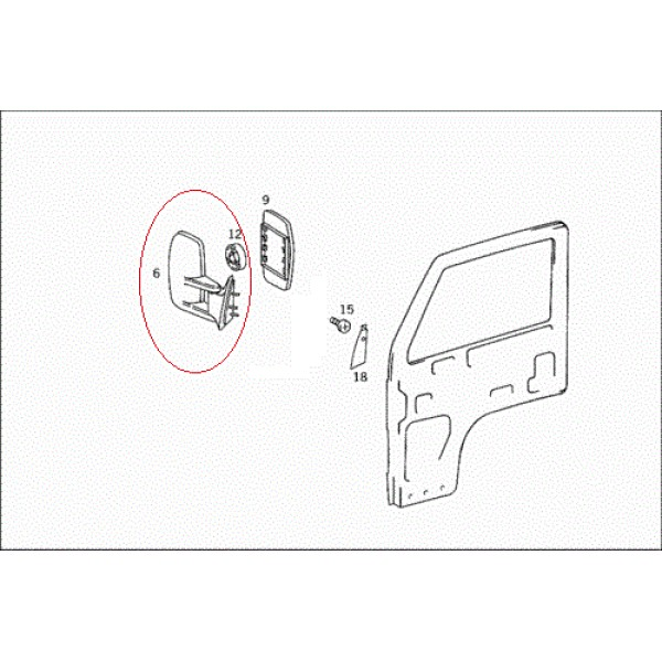 Ayna Komple, Sağ, Manuel - MB800 (3718100816)